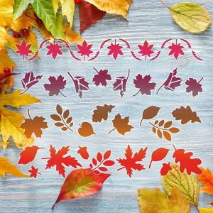 """Трафарет клеевой """"Осенняя листва"""" Creativim 15 х 20 см, многократного применения, мягкий"""