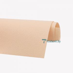 Корейский фетр Solitone 1,2 мм, 20 х 28 см, жесткий, 810 кремово-персиковый