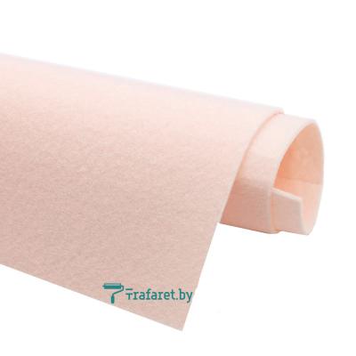 Корейский фетр Solitone 1,2 мм, 20 х 28 см, жесткий, 811 телесно-розовый