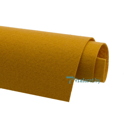 Корейский фетр Solitone 1,2 мм, 20 х 28 см, жесткий, 817 рыжий