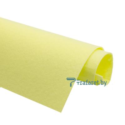 Корейский фетр Solitone 1,2 мм, 20 х 28 см, жесткий, 818 лимонный