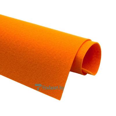 Корейский фетр Solitone 1,2 мм, 20 х 28 см, жесткий, 824 апельсиновый