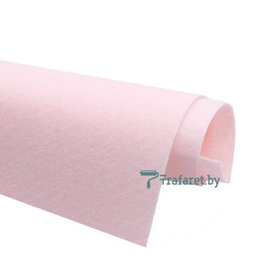 Корейский фетр Solitone 1,2 мм, 20 х 28 см, жесткий, 827 бледно-розовый