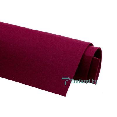 Корейский фетр Solitone 1,2 мм, 20 х 28 см, жесткий, 834 бордовый