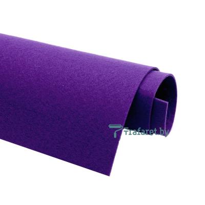 Корейский фетр Solitone 1,2 мм, 20 х 28 см, жесткий, 848 темно-фиолетовый