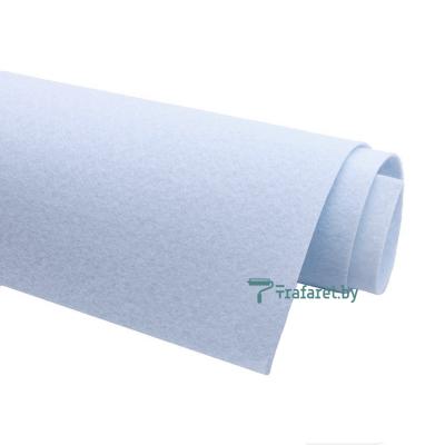 Корейский фетр Solitone 1,2 мм, 20 х 28 см, жесткий, 850 серо-голубой