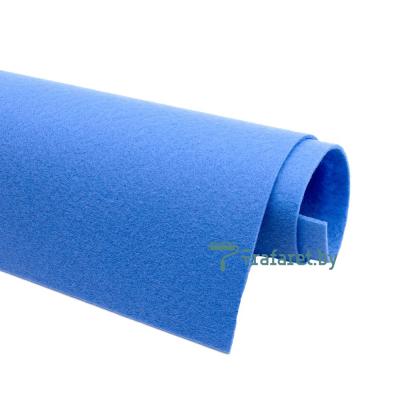 Корейский фетр Solitone 1,2 мм, 20 х 28 см, жесткий, 853 голубой