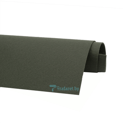Корейский фетр Solitone 1,2 мм, 20 х 28 см, жесткий, 876 болотный