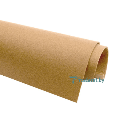 Корейский фетр Solitone 1,2 мм, 20 х 28 см, жесткий, 879 кремово-бежевый