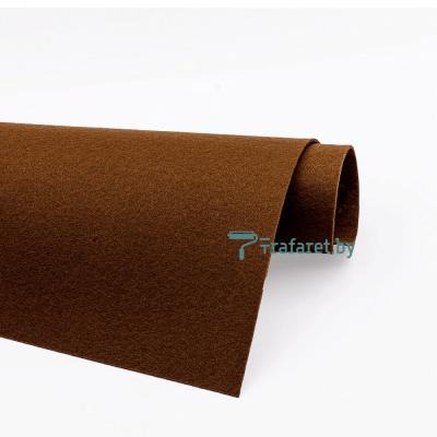 Корейский фетр Solitone 1,2 мм, 20 х 28 см, жесткий, 881 коричневый