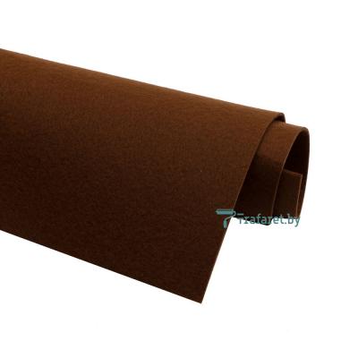 Корейский фетр Solitone 1,2 мм, 20 х 28 см, жесткий, 883 каштановый
