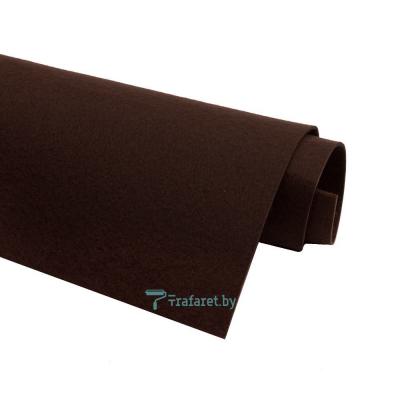 Корейский фетр Solitone 1,2 мм, 20 х 28 см, жесткий, 885 горький шоколад