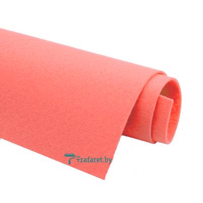 Корейский фетр Solitone 1,2 мм, 20 х 28 см, жесткий, 909 лососевый