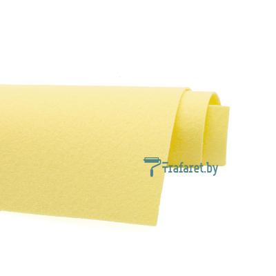 Корейский фетр Solitone 1,2 мм, 20 х 28 см, жесткий, 916 желтый пастельный