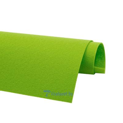 Корейский фетр Solitone 1,2 мм, 20 х 28 см, жесткий, 933 яблочно-зеленый