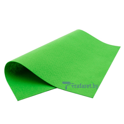 Корейский фетр Royal 1мм мягкий 40 х 28 см, RN-48 зеленый