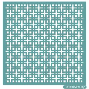 """Трафарет клеевой """"Геометрический принт"""" Creativim.by 20 х 20 см, многократного применения, мягкий"""