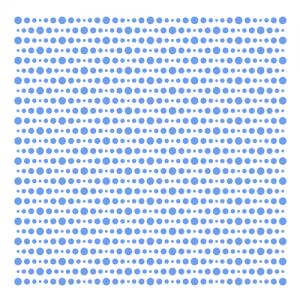 """Трафарет клеевой """"Полька"""" Creativim.by 20 х 20 см, многократного применения, мягкий"""