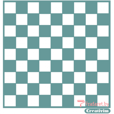 """Трафарет клеевой """"Шахматный"""" Creativim.by 15 х 15 см, многократного применения, мягкий"""