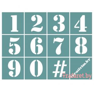 """Трафарет клеевой """"Цифры 1"""" Creativim.by 13 х 17 см, многократного применения, мягкий"""
