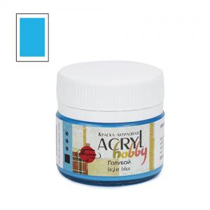"""Акриловая краска """"Acryl hobby"""" 20мл, матовая, Голубой"""