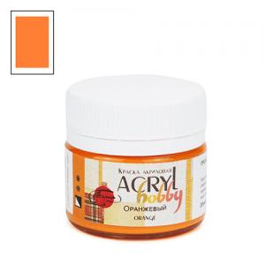 """Акриловая краска """"Acryl hobby"""" 20мл, матовая, Оранжевый"""