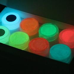 Светящаяся люминесцентная, (светится в темноте) краска для творчества Acmelight 20 мл , 8 шт, набор