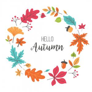 """Трафарет клеевой """"Hello autumn"""" Creativim 20 см, многократного применения, мягкий"""