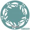 """Трафарет клеевой """"Рождественский венок 1"""" Creativim.by  20 см, многократного применения, мягкий"""