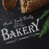 """Трафарет клеевой """"Bakery 1"""" Creativim.by  15 х 20 см, многократного применения, мягкий"""