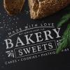 """Трафарет клеевой """"Bakery 2"""" Creativim.by  15 х 20 см, многократного применения, мягкий"""