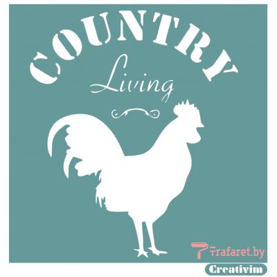 """Трафарет клеевой """"Country Living"""", 15 х 20 см, многократного применения, мягкий"""