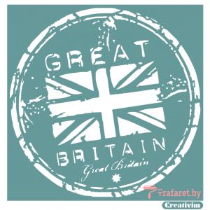 """Трафарет клеевой """"Great Britain"""", 20 х 20 см, многократного применения, мягкий"""