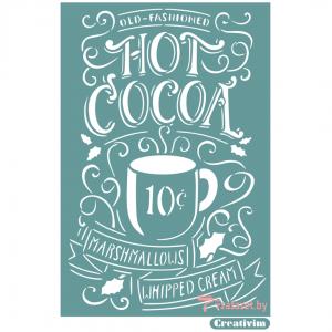 "Трафарет клеевой ""Hot cocoa 2"" Creativim.by 20 х 30 см, многократного применения, мягкий"