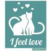 "Трафарет клеевой ""I feel love"" Creativim.by 15 х 20 см, многократного применения, мягкий"