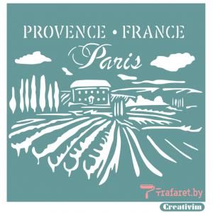 """Трафарет клеевой """"Provence France"""" Creativim.by  20 х 20 см, многократного применения, мягкий"""