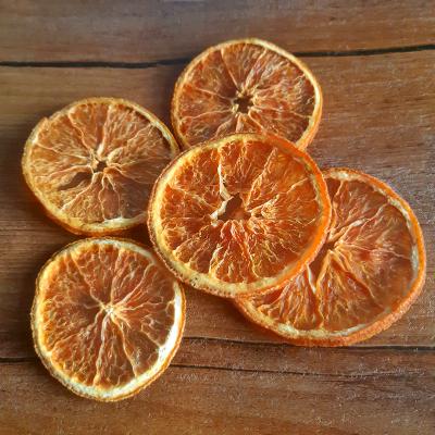 Срезы апельсина, 5 шт, 3-6 см, оранжевый