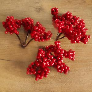Гроздь ягод Калина, 5 см, темно-красный