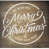 """Трафарет клеевой """"Merry Christmas 2"""" Creativim 20х 20 см, многократного применения, мягкий"""