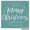 """Трафарет клеевой """"Merry Christmas 3"""" Creativim 20 х 20 см, многократного применения, мягкий"""