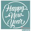 "Трафарет клеевой ""Happy New Year "" Creativim 20 х 20 см, многократного применения, мягкий"
