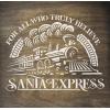 """Трафарет клеевой """"Santa Express"""" Creativim.by  15 х 20 см, многократного применения, мягкий"""