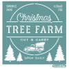 "Трафарет клеевой ""Tree Farm"" Creativim.by  20 х 20 см, многократного применения, мягкий"