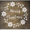 """Трафарет клеевой """"Merry Christmas5"""" Creativim.by  20 х 20 см, многократного применения, мягкий"""
