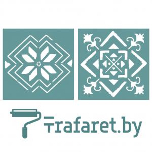 """Набор трафаретов """"Белорусский орнамент"""", 10 х 10 см, 10 шт,  многократного применения"""