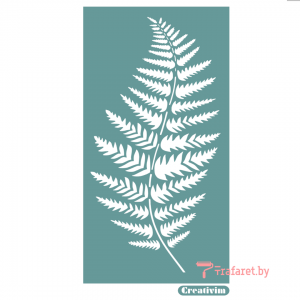 """Трафарет клеевой """"Лист папоротника"""" Creativim.by  10 х 15 см, многократного применения, мягкий"""
