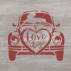 """Трафарет клеевой """"Love bug"""" Creativim.by  15 х 15 см, многократного применения, мягкий"""